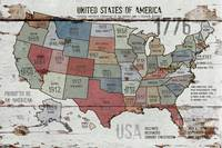 24x36 new The United States of America Map II