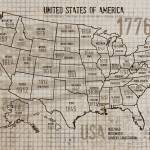 """""""ORL-2894-1 USA Map"""" by Aneri"""