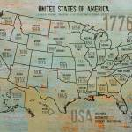 """""""ORL-2988-8 USA Map 1776-8"""" by Aneri"""
