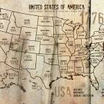 """""""ORL-2988-12-1 USA Map 1776-12-1"""" by Aneri"""