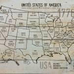 """""""ORL-2988-14 USA Map 1776-14"""" by Aneri"""
