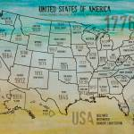 """""""ORL-2988-17 USA Map 1776-17"""" by Aneri"""