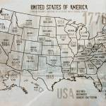 """""""ORL-2988-28 USA Map 1776-28"""" by Aneri"""