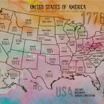 """""""ORL-2988-35 USA Map 1776-35"""" by Aneri"""