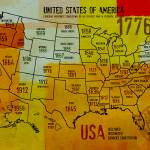 """""""ORL-2988-36 USA Map 1776-36"""" by Aneri"""