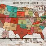 """""""ORL-2989-1 The United States of America Map I"""" by Aneri"""