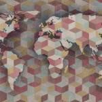 """ORL-3020 Modern World Map VI"" by Aneri"