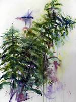 Forest Fern and Dragonfly Watercolor