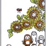 """Sunflower_owls"" by DanielaHartlHeisan"