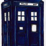 """blue_police_box"" by DanielaHartlHeisan"