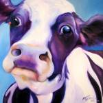 """FUNNY COW BLUE"" by MBaldwinFineArt2006"