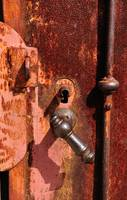 Old Door Handle and Lock