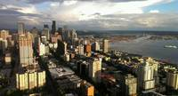 Evening View From Space Needle