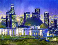 Griffith Park Observatory with LA Nocturne