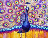 Radiant Peacock, purple art