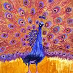 """peacock poetry, pink art"" by schulmanart"