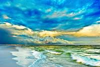 landscape photography blue and turquoise sea
