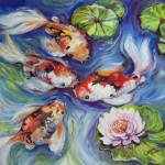 """HAPPINESS KOI 2420"" by MBaldwinFineArt2006"