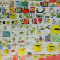 100 Hundred Sun Comic  1st Place In School Art.