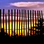 """Fenced Sunset"" by LJdesigns"