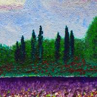 Impressionist Wildflower Field Landscape w1 Art Prints & Posters by Ricardos Creations