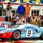 """Ford GT 40 at LeMans, 1968"" by ArtbySachse"
