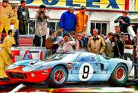 Ford GT 40 at LeMans, 1968