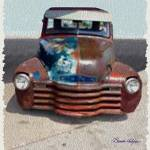 """""""Old Ford Truck"""" by BrendaSalyersArt"""