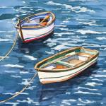 """Vernazza Boats"" by WillyDaleArt"