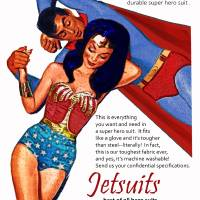 Jetsuit Vintage Magazine Ad Art Prints & Posters by David Caldevilla