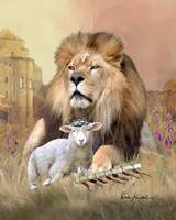 Lion of Judah Painting - Worthy is the Lamb