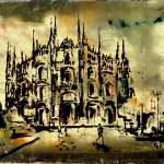 """Duomo Milan Italy Art by Ginette"" by GinetteCallaway"