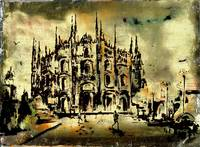 Duomo Milan Italy Art by Ginette