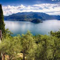 Lake Como Vista From Castle Vezio Art Prints & Posters by George Oze