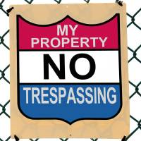 My No Trespassing Sign Art Prints & Posters by Phil Cardamone