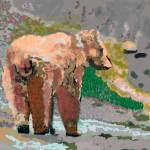 """081914 Grizzly Alaska Digital Oil Painting"" by garlandoldham"