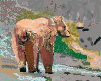 081914 Grizzly Alaska Digital Oil Painting