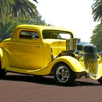 1934 Ford 3 Window Coupe Art Prints & Posters by Dave Koontz