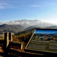 view of Mt. LeConte Art Prints & Posters by K. Campbell