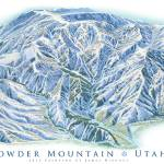 """Powder Mountain Utah"" by jamesniehuesmaps"