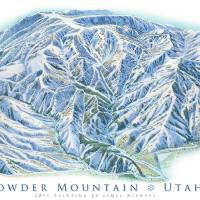 Powder Mountain Utah Art Prints & Posters by James Niehues
