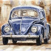 1960 Volkswagen Beetle Art Prints & Posters by Joey Agbayani
