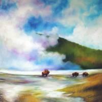 YELLOWSTONE BUFFALO Art Prints & Posters by Marcia Baldwin