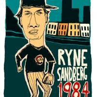 Ryne Sandberg Chicago Cubs Art Prints & Posters by jay perkins