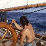"""Mark at the Wheel Under Sail by Bil McAllen for Im"" by McallenPhotography"