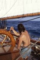 Mark at the Wheel Under Sail by Bil McAllen for Im