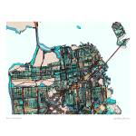 """San Fran 16x20resized"" by carlandcartography"