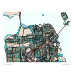 """San Fran 16x20resized"" by carlandcartography"