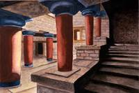 Pillars at Knossos