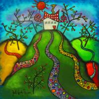 All Roads Lead Home Art Prints & Posters by Juli Cady Ryan